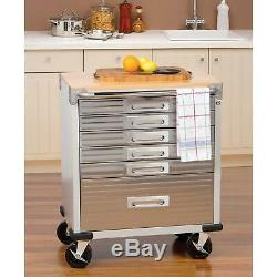 Seville Classics UltraHD 6 Drawer Rolling Cabinet! Graphite NEW