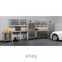 Seville Classics UltraHD Rolling Workbench with two door