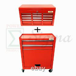 Sigma Roll Around 24 In. 8 Drawer Rolling Tool Box Storage Chest Cabinet Cart
