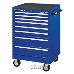 Single Bank Rolling Cabinet Compact Garage Shop Tool Box Chest 26 In. X 22 Inch