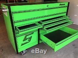 Snap On 54 11 Drawer Double Bank Master Series Roll Cab Tool Box KRL722BPKG
