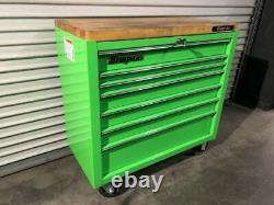 Snap-On 7 Drawer KRA4107FPJJ 40 Extreme Green Roll Cab Tool Box Chest Organizer