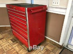 Snap On 8 Draw Rolling Wheeled Tool Box Red LOCAL PICKUP ONLY