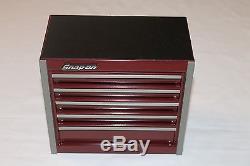 Snap On Cranberry Mini Bottom Roll Cab Tool Box Rare Brand New