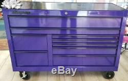Snap On KCP2422BEG 55 9-Drawer Classic Rolling Tool Box Cabinet with Power Strip