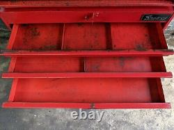 Snap-On KR-547 & KR-557B Bottom & Middle Tool Box 10 Drawers vintage rolling