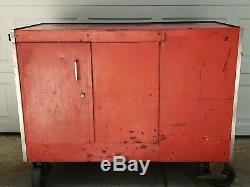 Snap On KR-562-B Rolling Tool Chest Box Cart 13 Drawer with Chemical Cabinet Red