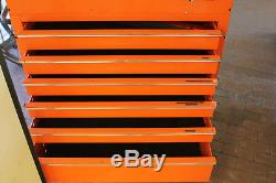 Snap-On KRSC46-GPJK 6 Drawer Roll Cart (Electric Orange) Tool Box