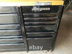 Snap On KTL7023 Rolling Tool Box Cabinet Black Triple Bank
