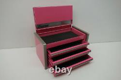 Snap-On Micro Roll Cab BOTTOM & TOP chest SET Mini Tool Box Pink. Brand NEW