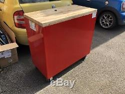 Snap On Roll Cab, Toolbox, Roll Chest, Box With Wooden Top Butchers Block