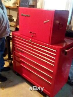 Snap On Rolling Tool Box and Top Box