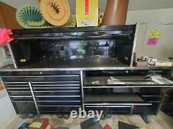 Snap On Tool Box Black 26 drawers rolling top included, plus extra parts