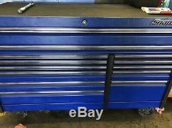 Snap On Tool Box EPIQ Series 68 Roll Cab 13 Drawer Flat Blue Read Description