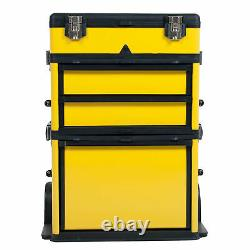Stackable Toolbox Rolling Tools Organizer Mobile Drawer Portable Workstation