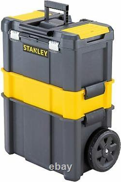 Stacking Rolling Workshop Mobile Tool Box Wheels Storage Garage Portable Trolley
