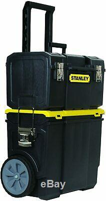 Stanley 3-in-1 Portable Rolling Detachable Storage Tool Box Organizer Chest Case