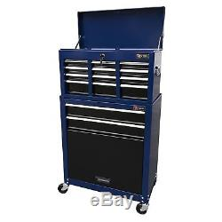 Steel Rolling Tool Chest Portable Storage Cabinet Mechanic Toolbox Cart No Tax