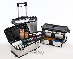 Steel Tools Rolling Suitcase Heavy Duty Cabinet Large Box Cart Mobile Organizer