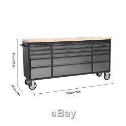 THOR 15 Drawer 72 Mechanic Rolling Toolbox Chest Organizer Cabinet Garage W4A9