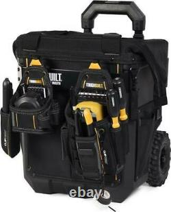 TOUGHBUILT Massive Mouth Hard Bottom Large 14-in Zippered Rolling Tool Bag162