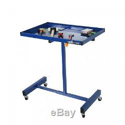 Technician Large Surface Rolling Tool Tray Cart Adjustable Height Tools Service