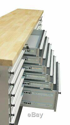 Thor 72 15 Drawers Tool Chest Cabinet Rolling Storage Sliding Box Work Bench US