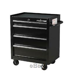 Tool Box Chest Metal Rolling Cabinet 26 Inches 4 Drawers Bottom Storage Workshop
