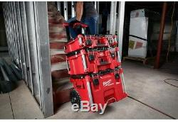 Tool Box Storage Stackable Organizer Portable Rolling Wheels Lockable Red 233663