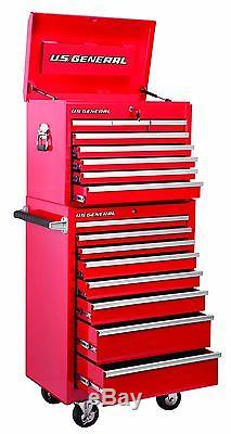 Tool Cabinet Chest 16 Drawer Roller Box Steel Storage Rolling Toolbox Garage New
