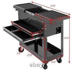 Tool Cart Rolling Mechanics Toolbox Tools Organizer With Wheels Drawer Shelves