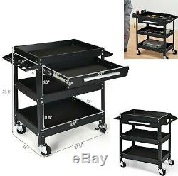 Tool Cart Rolling Mechanics Tools Organizer Toolbox With Wheels Drawer Shelves