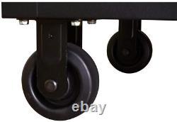 Tool Chest Work Bench Cabinet Adjustable Wood Top 52 in Rolling Garage Storage