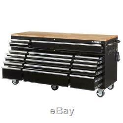 Tool Chest Work Bench Cabinet Adjustable Wood Top Rolling Garage Mobile Storage