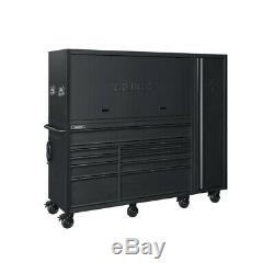 Tool Chest Work Bench Cabinet Sliding Lid Lit Top 80 in Rolling Garage Storage