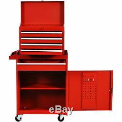 Tool Organizer Large Capacity Tool Chest& Cabinet 4-Wheel Rolling Toolbox 2-in-1
