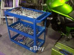 Tool Trolley Roll Storage Box Chest Tray Cab Service Portable Mobile Workshop