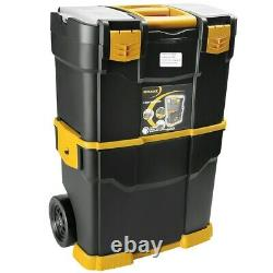 Toolbox Stackable Cabinet Storage Organizer Detachable Chest Rolling Safety Lock