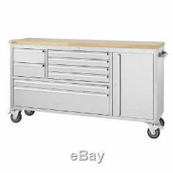 Trinity 66 Stainless Steel Rolling Workbench