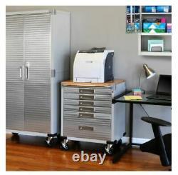 Ultrahd 6-drawer Rolling Lockable Storage Cabinet, 28 W X 18 D X 34.5 H, Gray