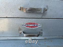 Vintage 1950's Craftsman Rolling Tool Cabinet & Chest Oval Logo +Tool Box WithTray