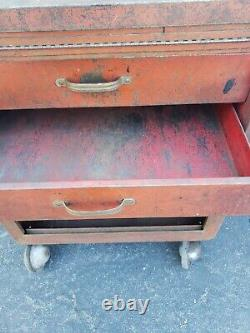 Vintage CORNWELL Tool Box chest cabinet rolling
