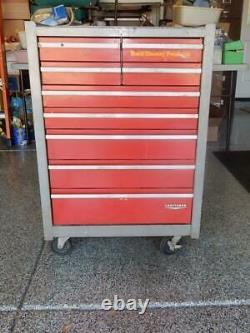 Vintage CRAFTSMAN 9 Drawer Rolling Mechanic Tool Box- 39 in H x 27 in W x 18 D