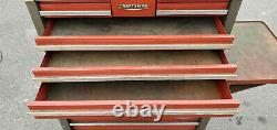 Vintage Craftsman 1970's Gray & Red Mechanics Rolling Tool Chest Box Cabinet