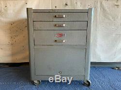 Vintage Craftsman Rolling Tool Box Craftsman 3-Drawer Toolbox Amazing Condition