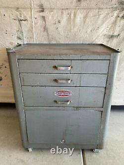 Vintage Craftsman Rolling Tool Box Craftsman 3-Drawer Toolbox WITH KEY