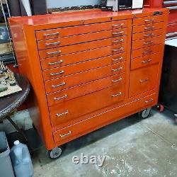 Vintage MAC Tools Rolling Tool box. 51W x 24D 47H