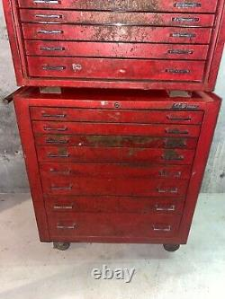 Vintage MAC Tools Toolbox Rolling Chest MB900/MB920 Combo