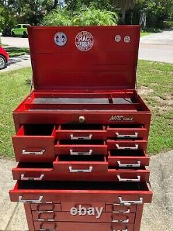 Vintage Mac Tools tool box set 10-drawer Upper & 10-drawer Rolling Chest LOCAL