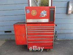 Vintage Snap On KRA-537A, 557F Deluxe Roll-away Tool Box Chest, KENOSHA, WIS. 1980